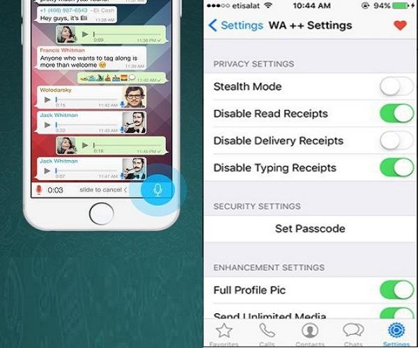 baixar whatsapp gb iphone
